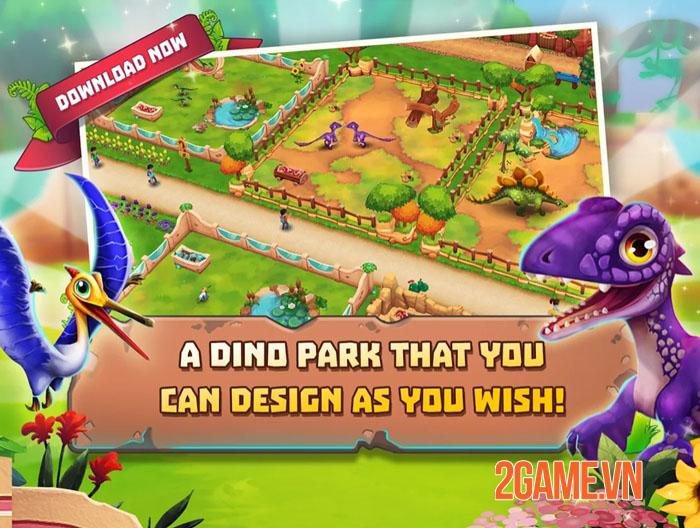 Dinosaur Park: Primeval Zoo - Game nông trại đề tài khủng long vui nhộn 2