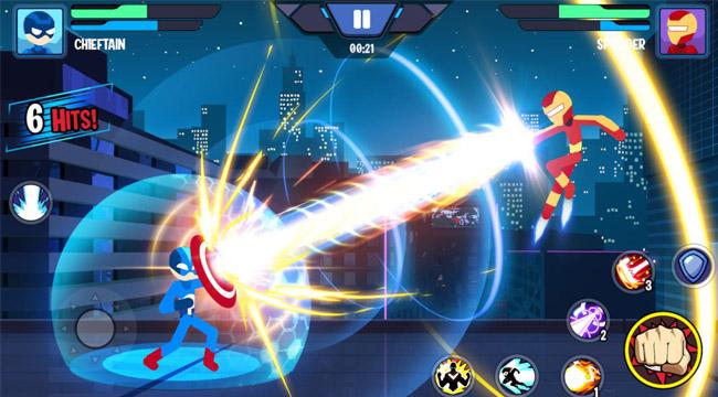 Stickman Heroes Fight – Nhẹ mà hay với người que anh hùng biến