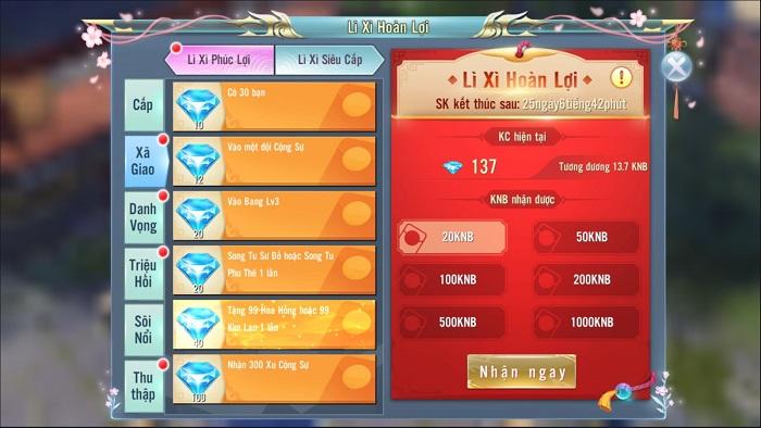 Năm mới Thiên Ngoại Giang Hồ tung bản cập nhật thêm ngàn lì xì và tiện ích 6
