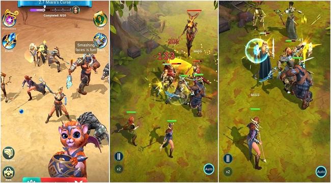 BlitZ: Rise of Heroes – Game Idle RPG màn hình dọc với 6 vị trí chiến đấu