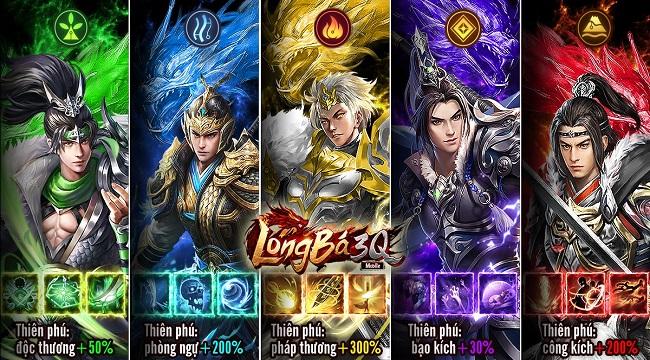 Long Bá 3Q Mobile – Phá vỡ truyền thống 3Q với những tướng độc nhất vô nhị