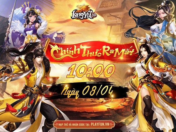 Tặng 100 giftcode game Long Vũ 3D Funtap mừng chính thức ra mắt 0