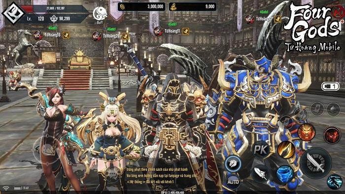 Game thủ tiếc nuối khi khó chiêm ngưỡng trọn vẹn đồ họa Tứ Hoàng Mobile 1