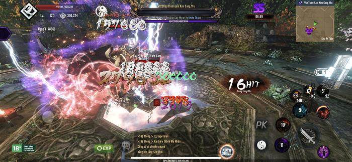 Game thủ tiếc nuối khi khó chiêm ngưỡng trọn vẹn đồ họa Tứ Hoàng Mobile 3