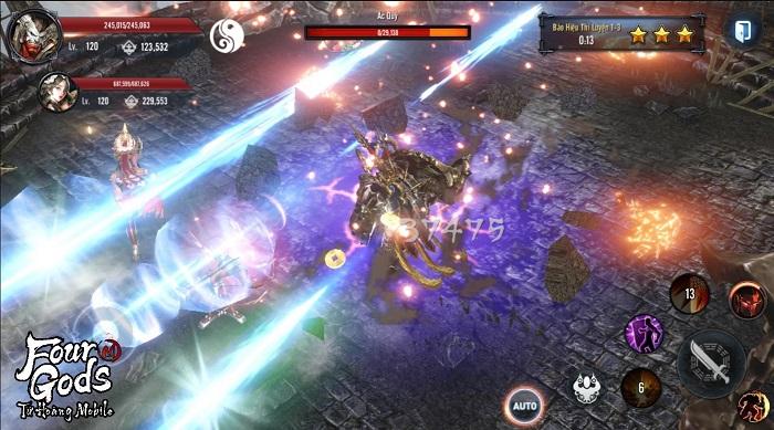 Game thủ tiếc nuối khi khó chiêm ngưỡng trọn vẹn đồ họa Tứ Hoàng Mobile 6