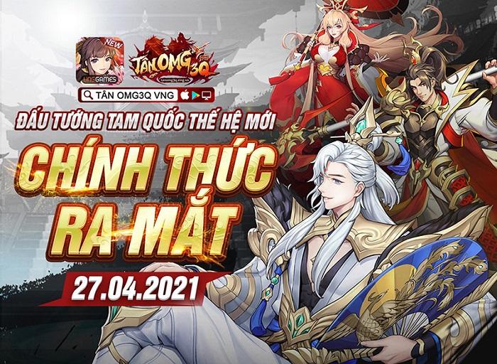 Game đấu tướng thế hệ mới Tân OMG3Q VNG bất ngờ công bố ngày ra mắt 0