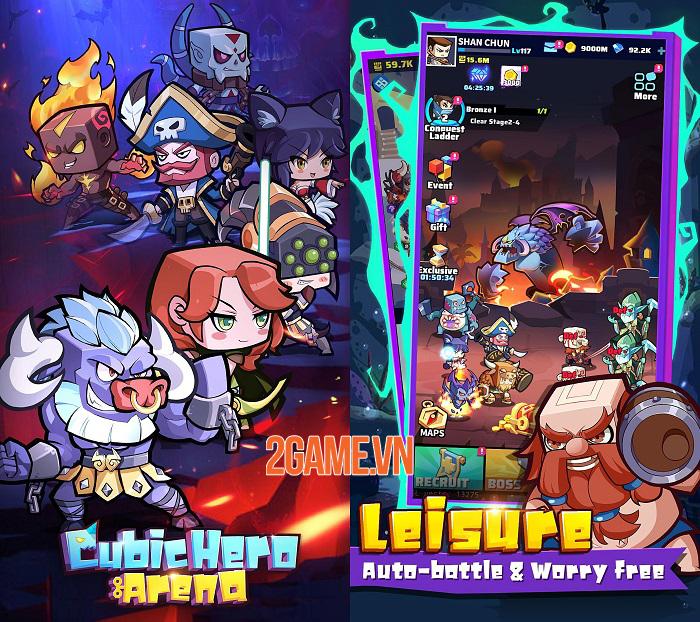 Cubic Hero Arena - Game Idle RPG với dàn anh hùng cổ điển dễ thương hình khối 0