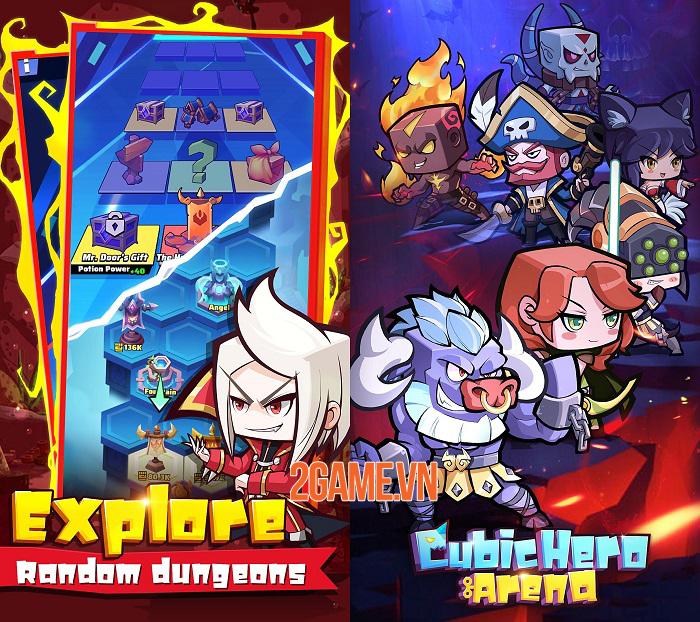Cubic Hero Arena - Game Idle RPG với dàn anh hùng cổ điển dễ thương hình khối 2