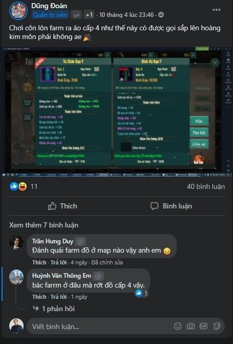 """Võ Lâm Truyền Kỳ 1 Mobile: Sôi động """"cuộc đua"""" up Trang bị Hoàng Kim 1"""