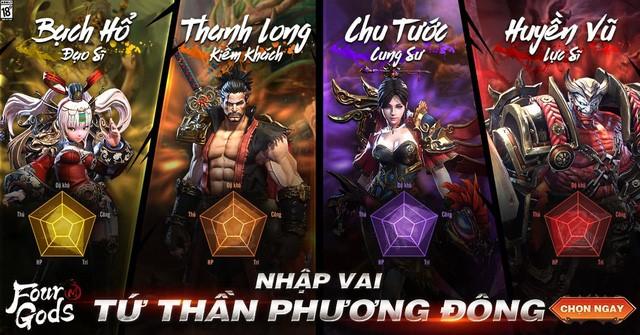 Tặng 1000 giftcode Tứ Hoàng Mobile chính thức ra mắt 2
