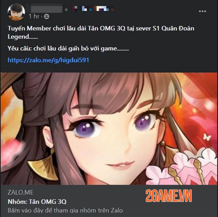 Cộng đồng Tân OMG3Q VNG hưởng ứng nhiệt tình khi game sắp ra mắt 0