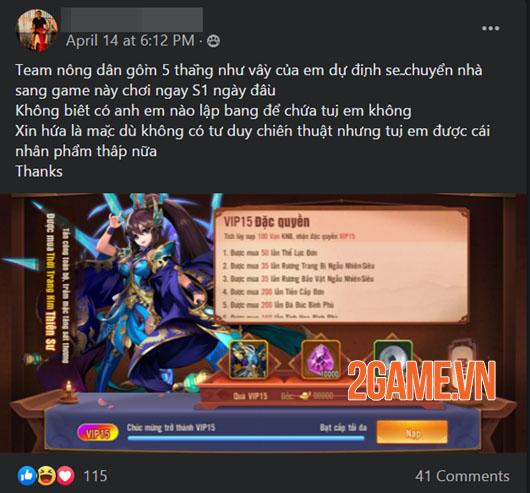 Cộng đồng Tân OMG3Q VNG hưởng ứng nhiệt tình khi game sắp ra mắt 3