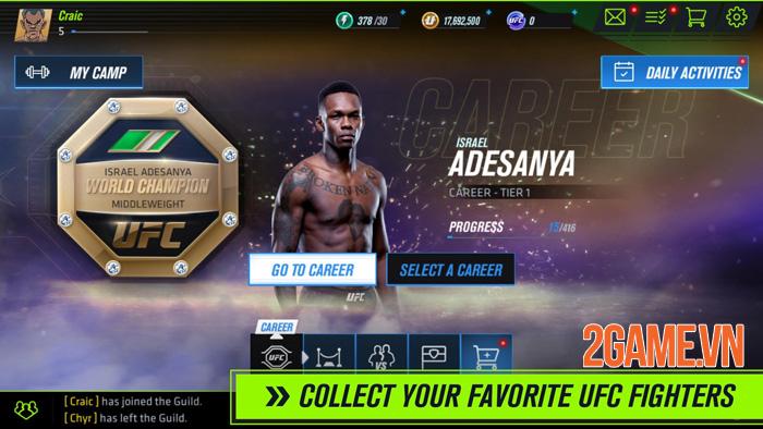 UFC Mobile 2 - Trải nghiệm môn thể thao đối kháng thực tế tàn bạo nhất 1