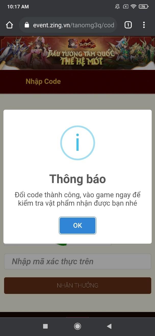 Tân OMG3Q VNG tung giftcode xịn tặng game thủ 2