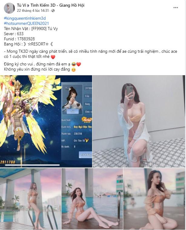 Game Tình Kiếm 3D show ảnh Bikini đốt mắt game thủ dịp lễ 2
