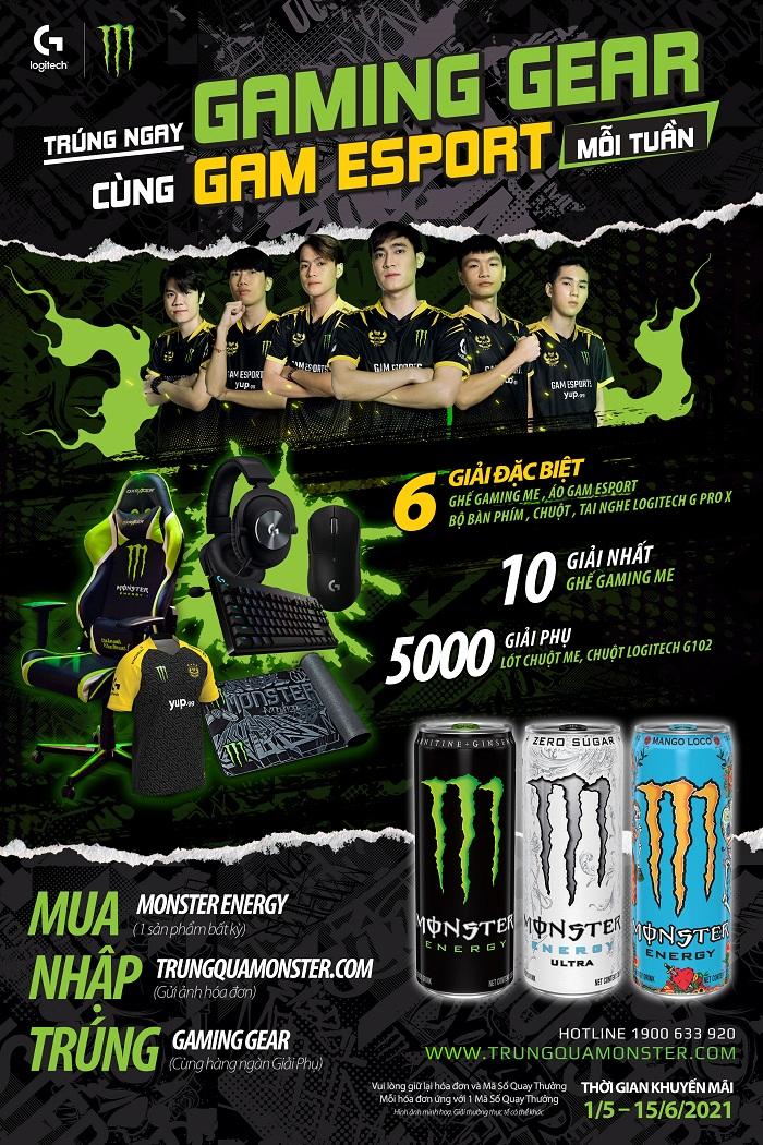 Cơ hội nhận ngay Gaming Gear chuyên nghiệp từ GAM eSports và Monster Energy 2