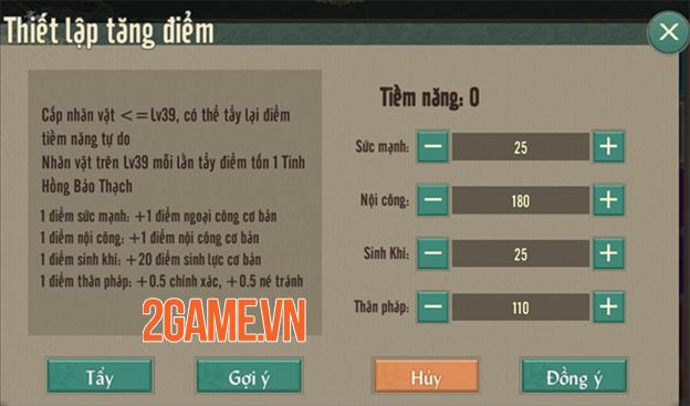 Cách tùy biến tốt nhất chỉ số trong Võ Lâm Truyền Kỳ 1 Mobile 3
