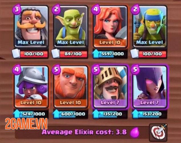 Không phải ai cũng biết: Xếp hạng tất cả các thẻ trong danh sách bậc Clash Royale 1