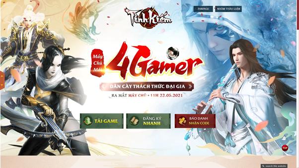 Thiên Long Game4You tung Landing page cho máy chủ mới 4Gamer 0
