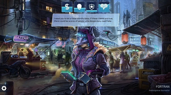 Neuronet: Mendax Proxy – Game phiêu lưu cyperpunk thống trị thế giới công nghệ
