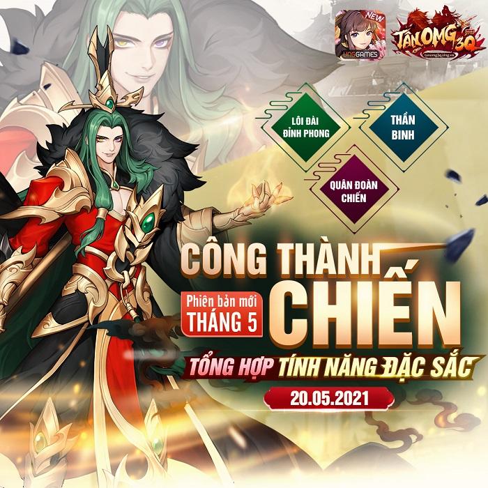 Cộng đồng Tân OMG3Q VNG nhiệt huyết cùng phiên bản mới Công Thành Chiến 0