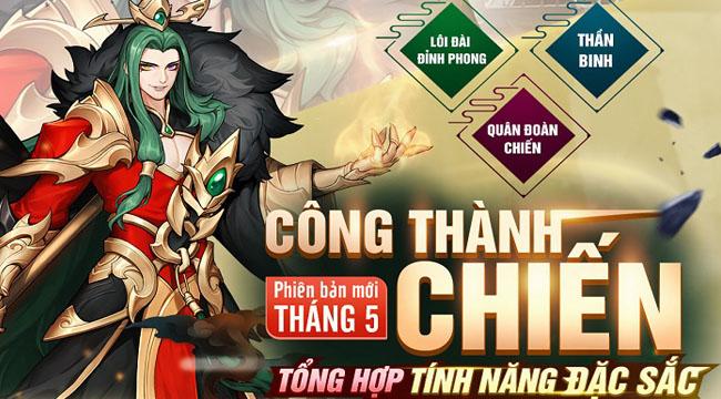 Cộng đồng Tân OMG3Q VNG nhiệt huyết cùng phiên bản mới Công Thành Chiến