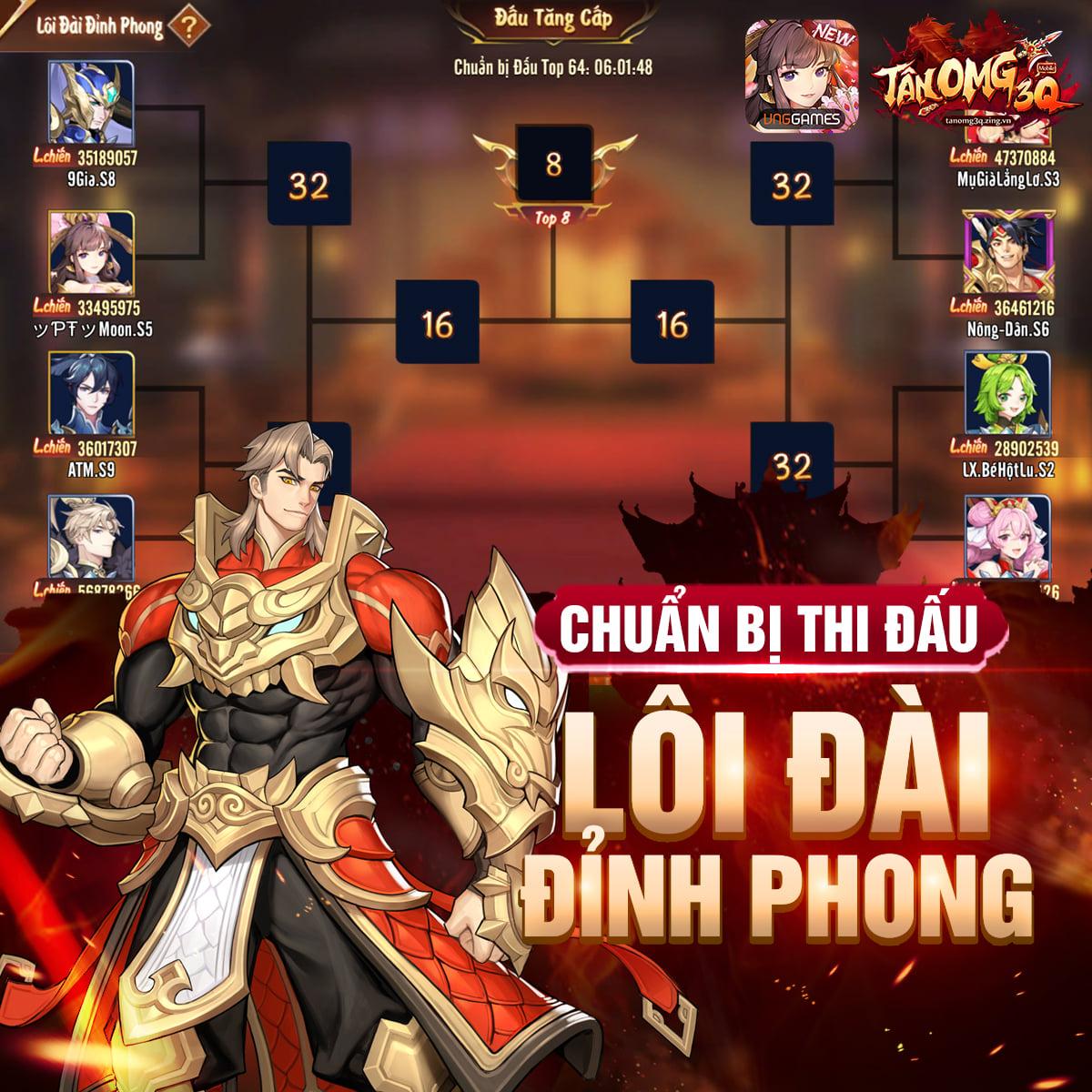 Tặng 400 giftcode Tân OMG3Q VNG mừng phiên bản mới Công Thành Chiến 0
