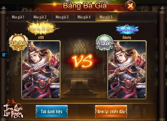 Tam Quốc Liệt Truyện phát động giải đấu liên server chưa từng có 2