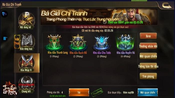 Tam Quốc Liệt Truyện phát động giải đấu liên server chưa từng có 4