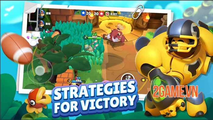 C3plus - Game hành động co-op 3v3 sinh tồn và cạnh tranh siêu đáng yêu 1