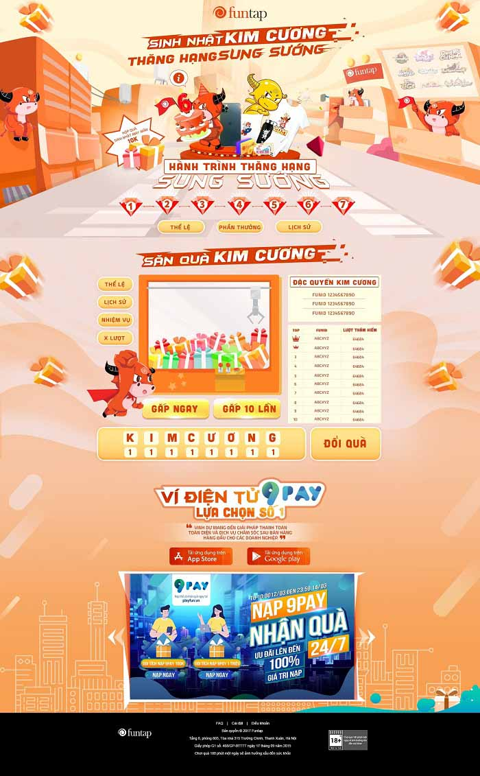 """Cộng đồng game thủ Việt """"thỏa mãn"""" với sự kiện Sinh nhật Kim Cương - Funtap 1"""