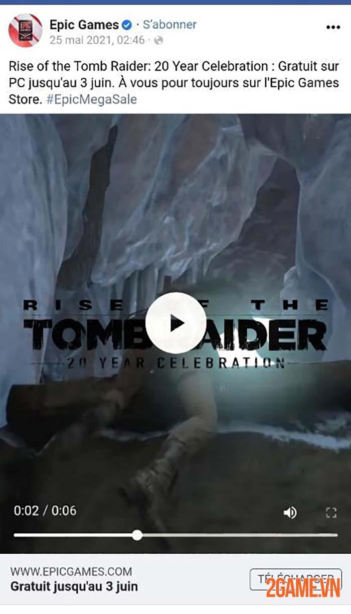 Tựa game miễn phí tiếp theo của Epic Games là Rise of The Tomb Raider 1
