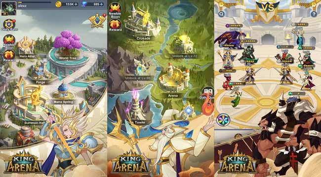 King of Arena – Game nhập vai nhàn rỗi giả tưởng với nhiều điểm độc đáo
