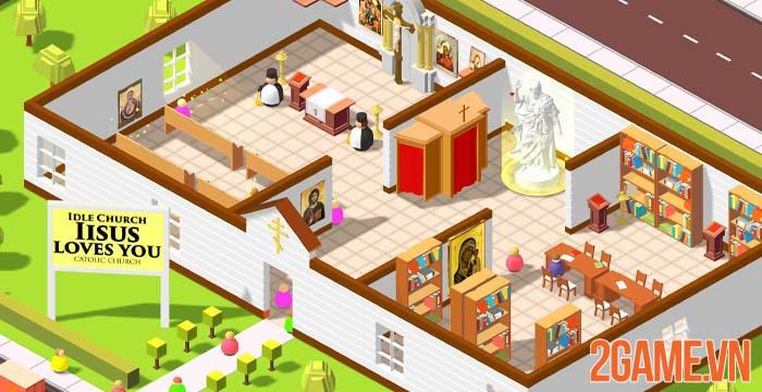 Idle Church Tycoon - Xây nhà thờ không tụ tập như hội thánh Phục Hưng 1