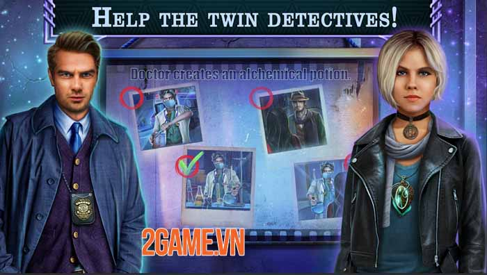Hidden Objects - Twin Mind 1: Game giải đố thám tử thách thức trí não 3