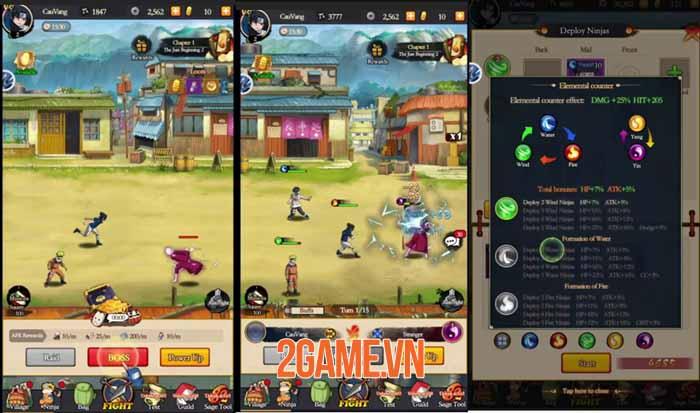 Will of Flare - Game nhập vai AFK đồ họa 2D sống động cho fan Naruto 2