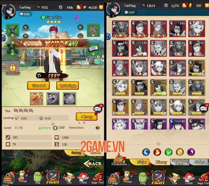 Will of Flare - Game nhập vai AFK đồ họa 2D sống động cho fan Naruto 1
