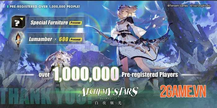 Alchemy Stars: Aurora Blast đạt một triệu lượt đăng ký ở các thị trường game lớn 0