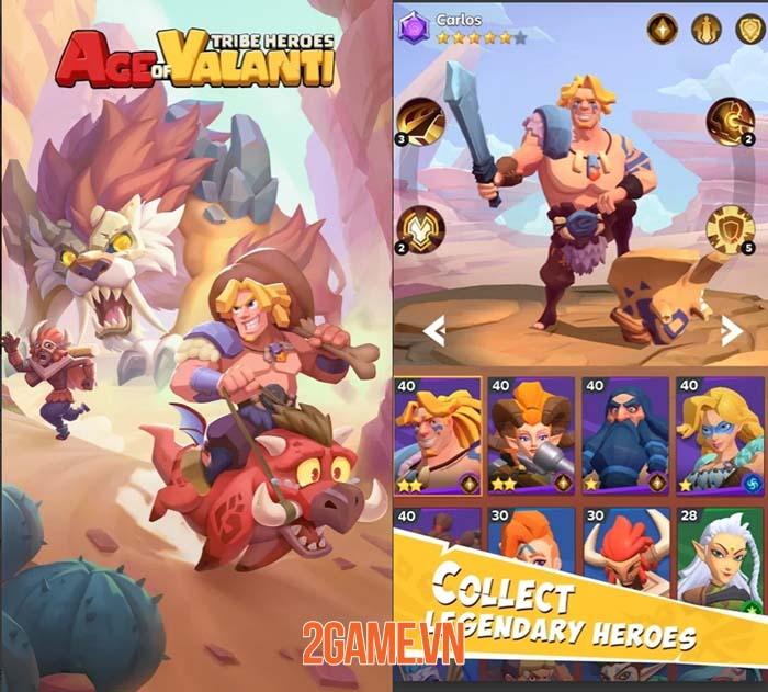 Age of Valanti: Tribe Heroes - Trải nghiệm chơi game nhập vai thư giãn và đơn giản 1
