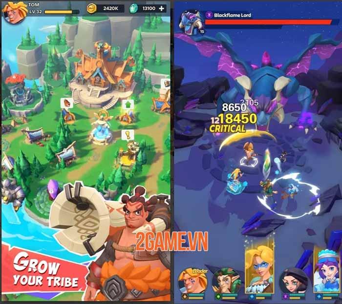 Age of Valanti: Tribe Heroes - Trải nghiệm chơi game nhập vai thư giãn và đơn giản 3