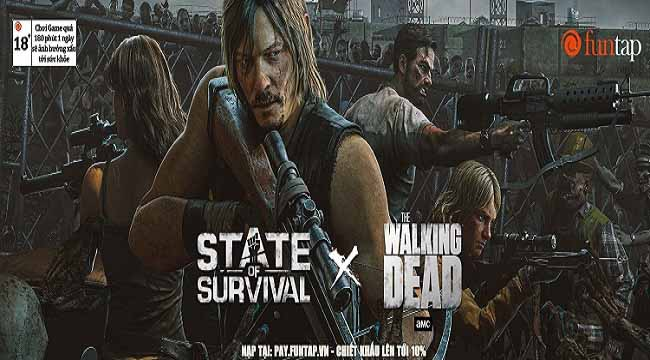 """Cú bắt tay lịch sử"" giữa State of Survival và The Walking Dead"
