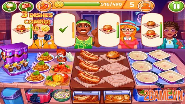 Cooking Craze - Game mobile gọn nhẹ giúp game thủ tìm hiểu ẩm thực 0