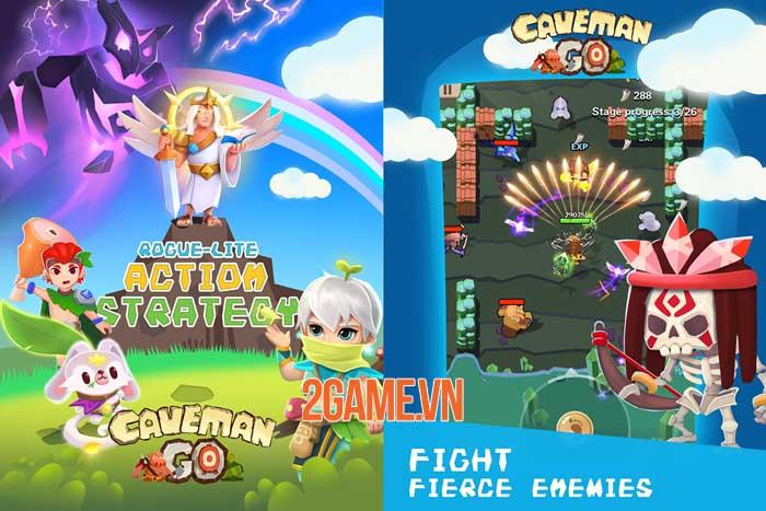 Caveman Go - Game hành động chiến lược điều khiển chỉ bằng một tay 0