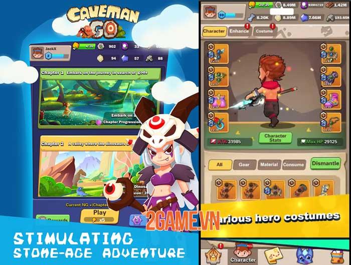 Caveman Go - Game hành động chiến lược điều khiển chỉ bằng một tay 2