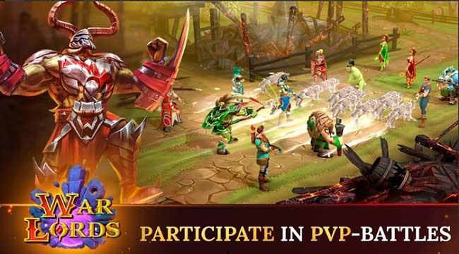 Warlords – Game nhập vai PVP đánh theo lượt phong cách fantasy thu hút