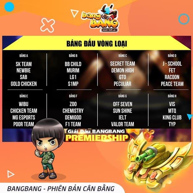 BangBang trở lại mạnh mẽ với giải đấu online BangBang Premiership 1 1