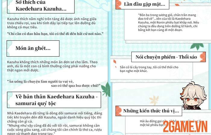 Kazuha trong Genshin Impact - Trang đầu tiên trong Inazuma phiêu lưu ký 2