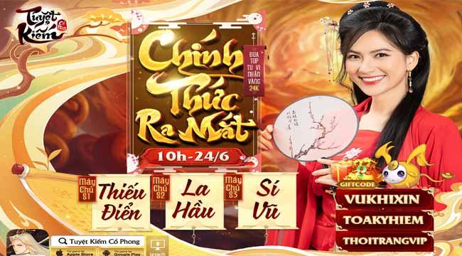 Tuyệt Kiếm Cổ Phong Mobile tặng giftcode VIP giới hạn cực hot