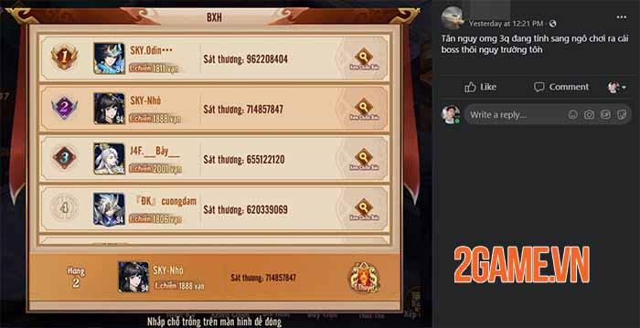 Tân OMG3Q VNG náo nhiệt cùng hoạt động đánh Boss liên server Ly Vẫn Xâm Nhập 6