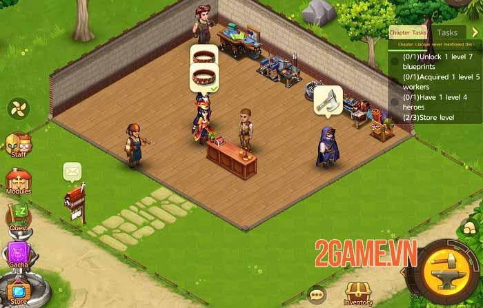 Shop Heroes Legends - Đắm mình trong game nhập vai Simulation Tycoon hoàn toàn khác 2